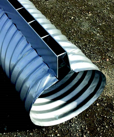 Slotted Steel Drain Pipe